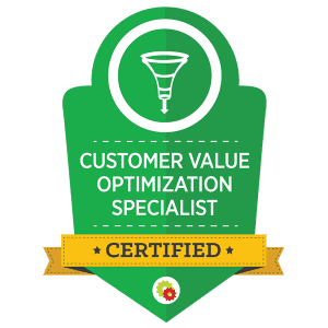Desiree Horsey's Customer Value Optimization Specialist Certification Badge