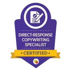 Desiree Horsey's Direct Response Copywriting Specialist Certification Badge