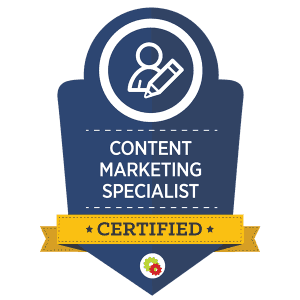 Desiree Horsey's Content Marketing Specialist Certification Badge